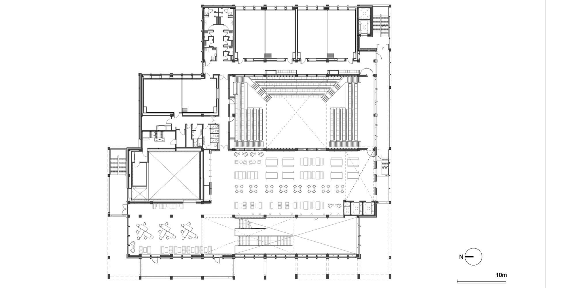 Pianta Piano Primo © Grafton Architects