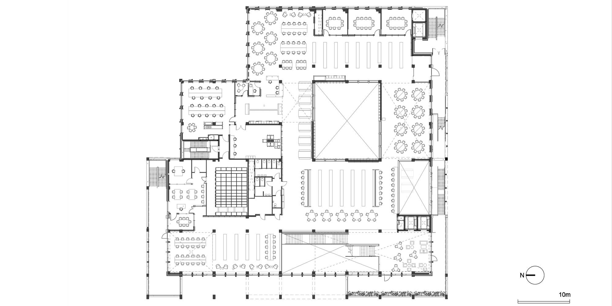 Pianta Piano Secondo © Grafton Architects