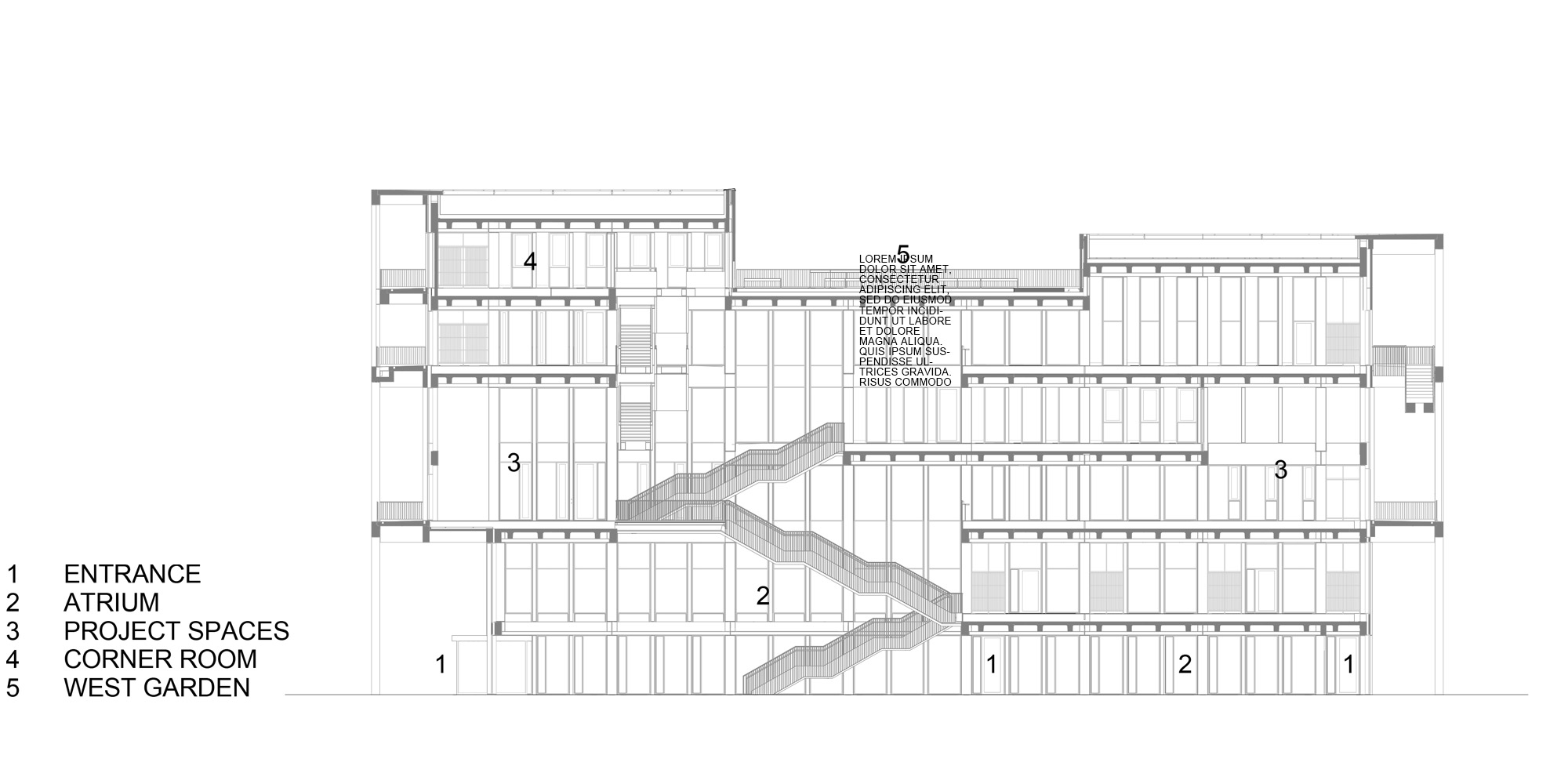 Sezione AA © Grafton Architects