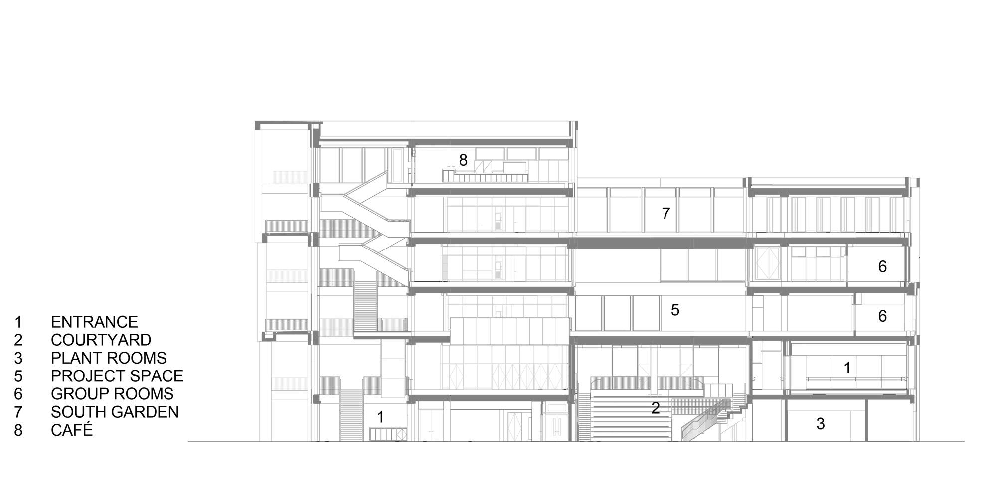 Sezione CC © Grafton Architects