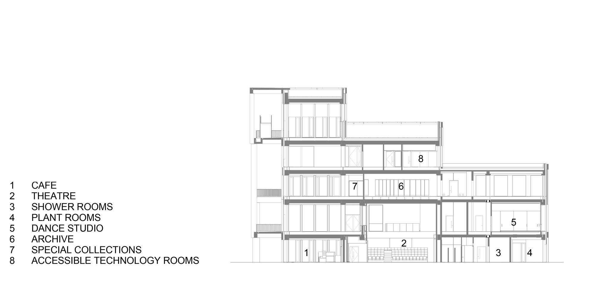 Sezione DD © Grafton Architects