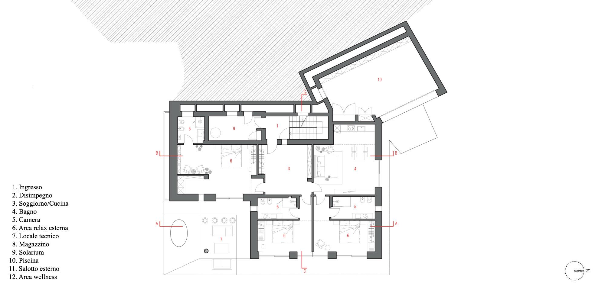 Basement floor plan © A+I