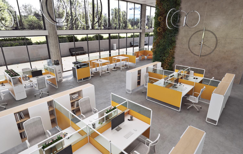 Caring Panel System, pannelli per uffici sanificabili, smontabili e riciclabili