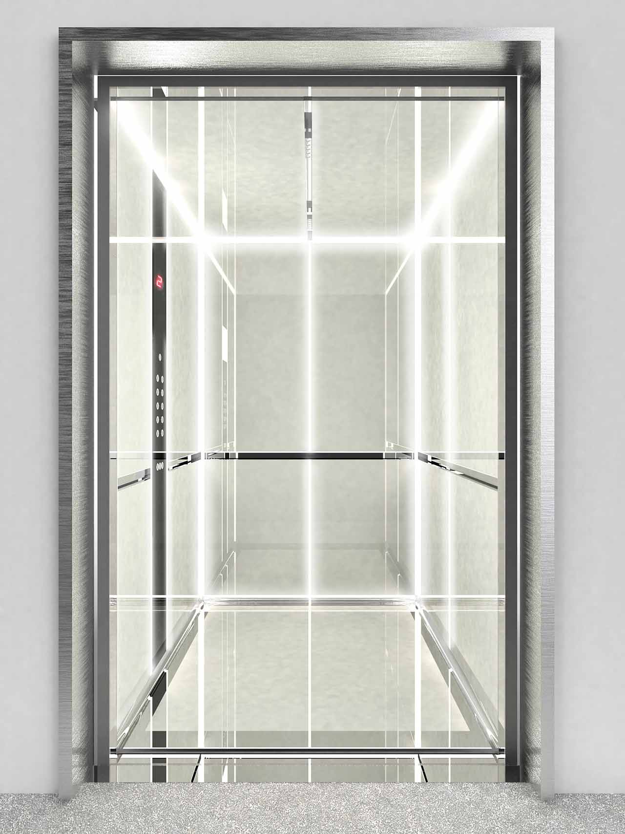 La trasparenza del rivestimento in vetro