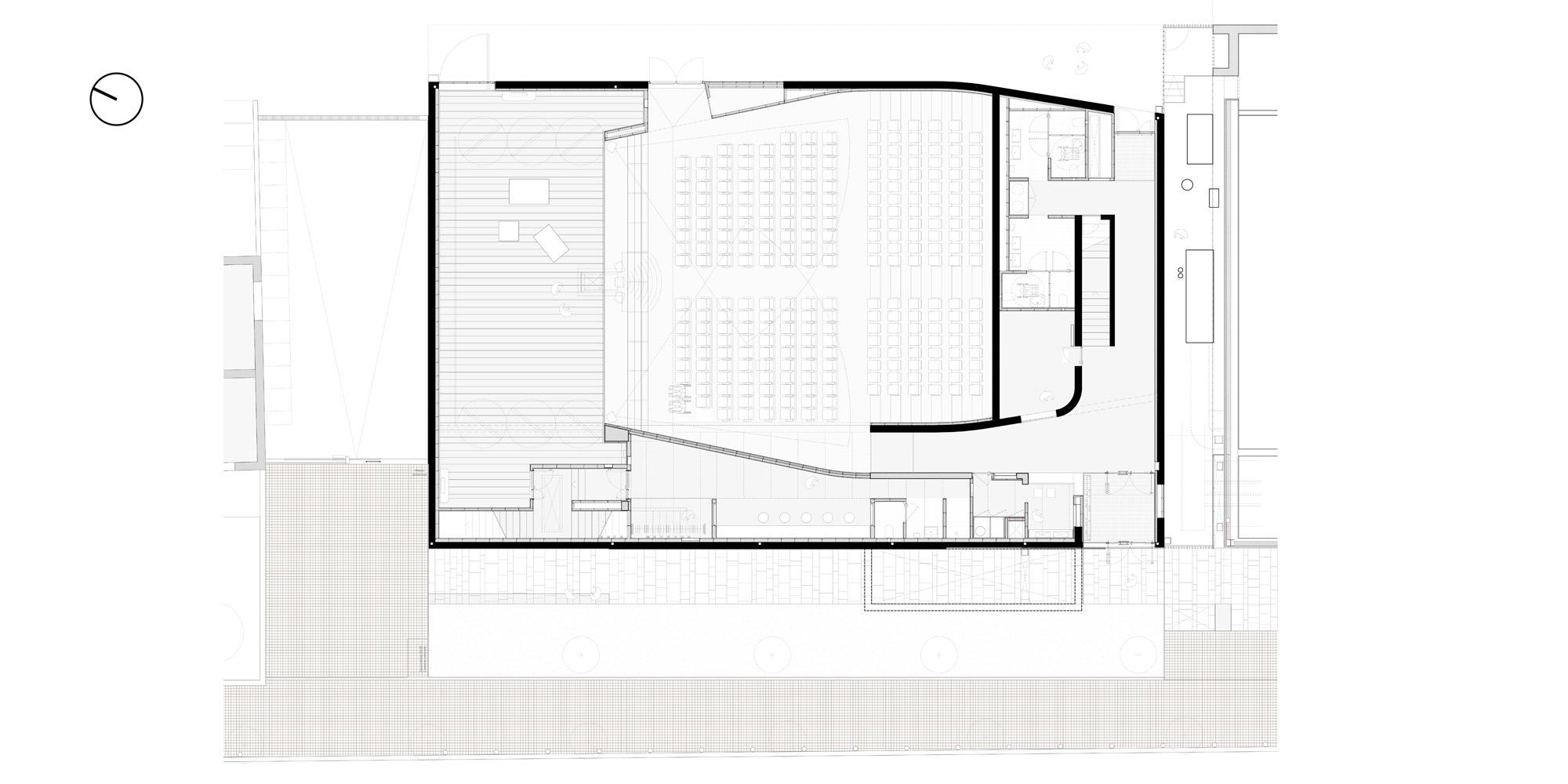 Pianta piano terra © PBeB Architetti