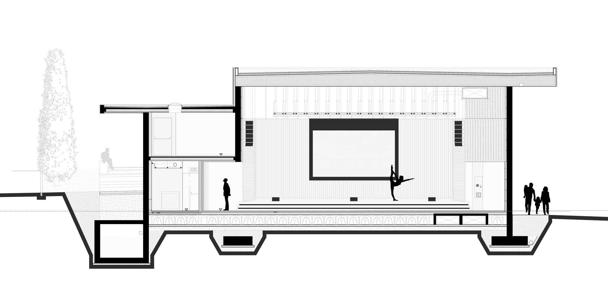 Sezione trasversale © PBeB Architetti