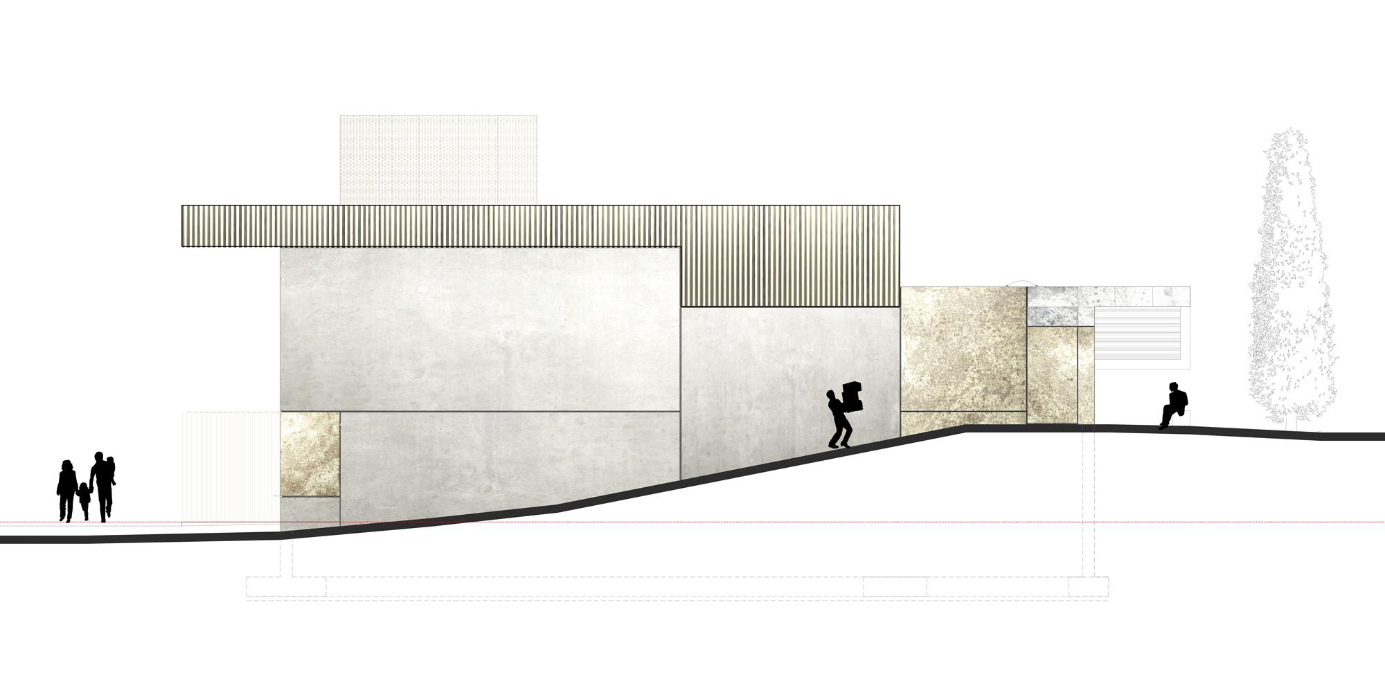 Prospetto nord © PBeB Architetti