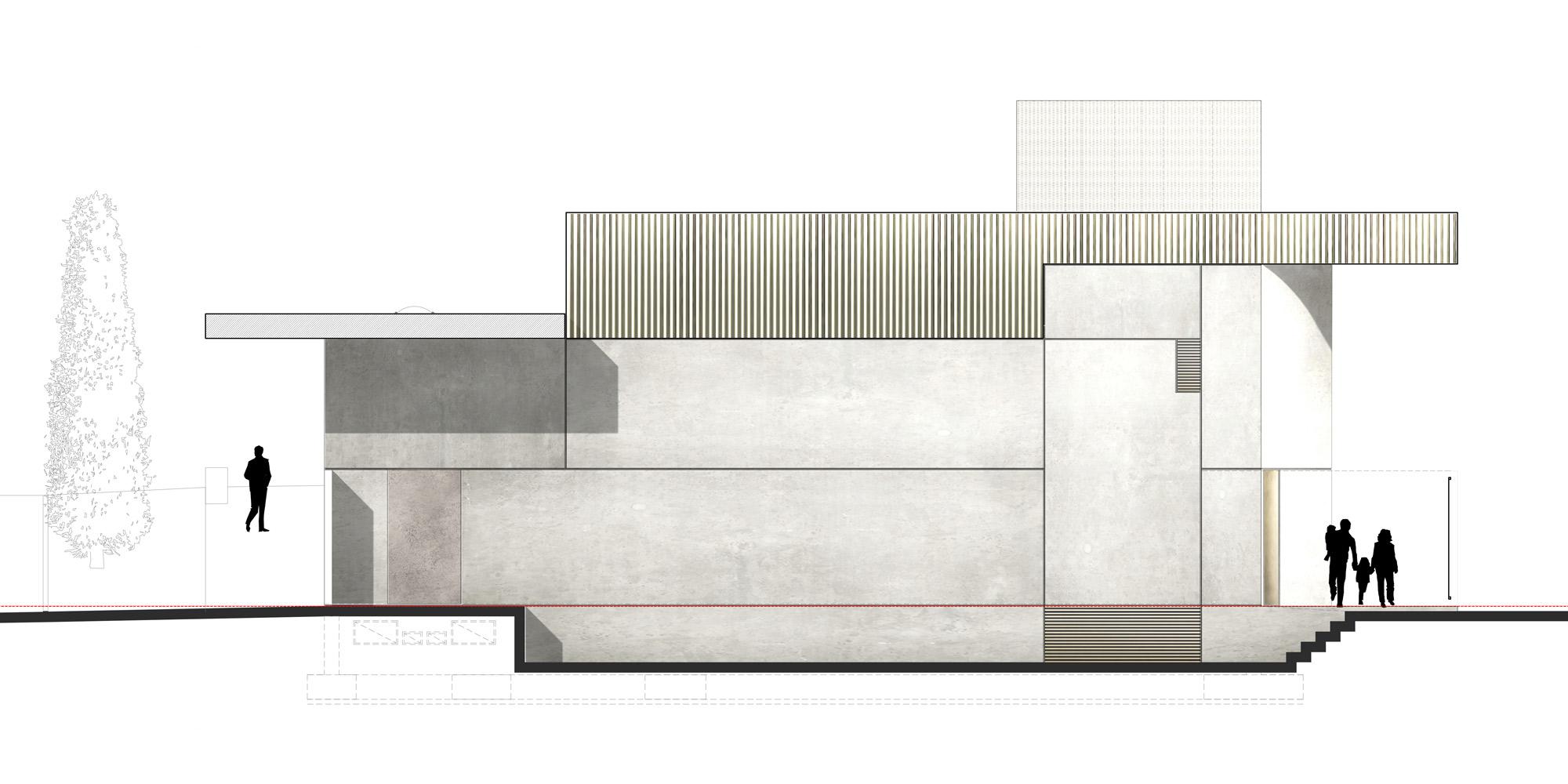 Prospetto sud © PBeB Architetti