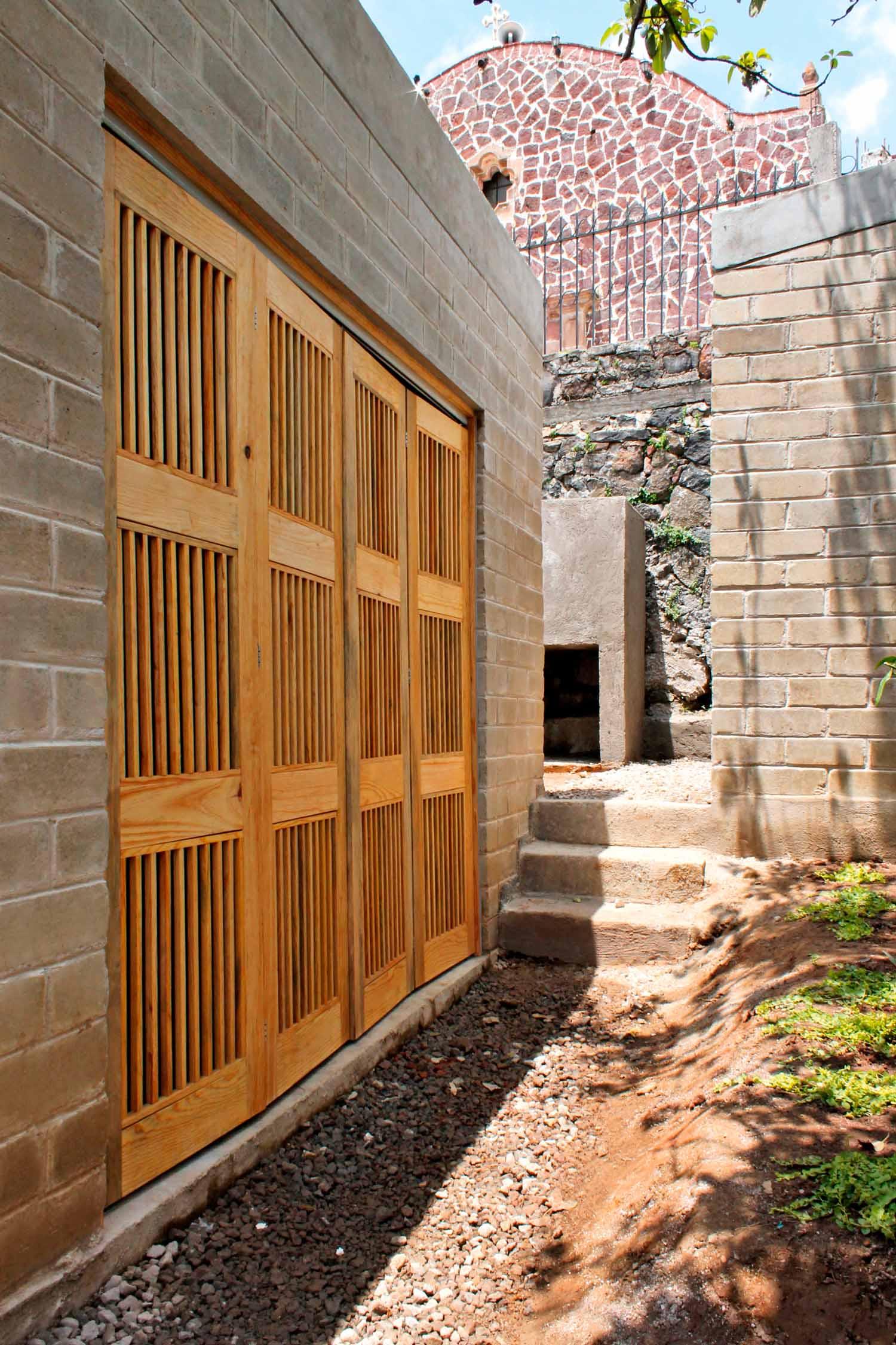 Casa Marbel Progetto realizzato nell'ambito del programma ReconstruirMX, Messico, 2018. © Percibald García, cour