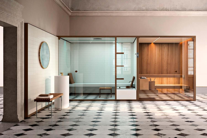 Sistemi integrati sauna+hammam Bodylove