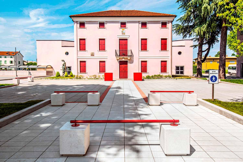 Piazza del Municipio, Villa del Conte, Padova, Italia