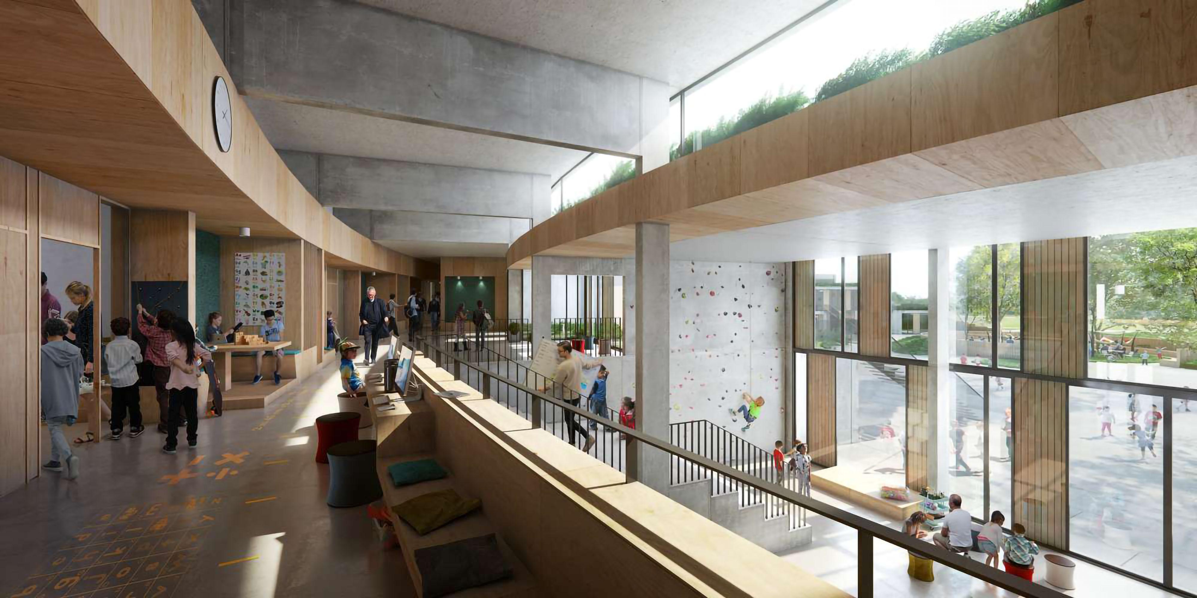 Sundby School, Henning Larsen Architects_visualization: Sora