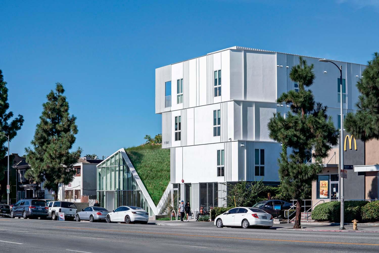 MLK1101 Supportive Housing, mixed use complex, LOHA, Los Angeles, CA, USA, 2019 © Paul Vu
