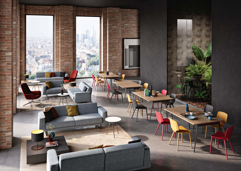 Foto courtesy Quadrifoglio Group Divano Avana e sedia di design Code