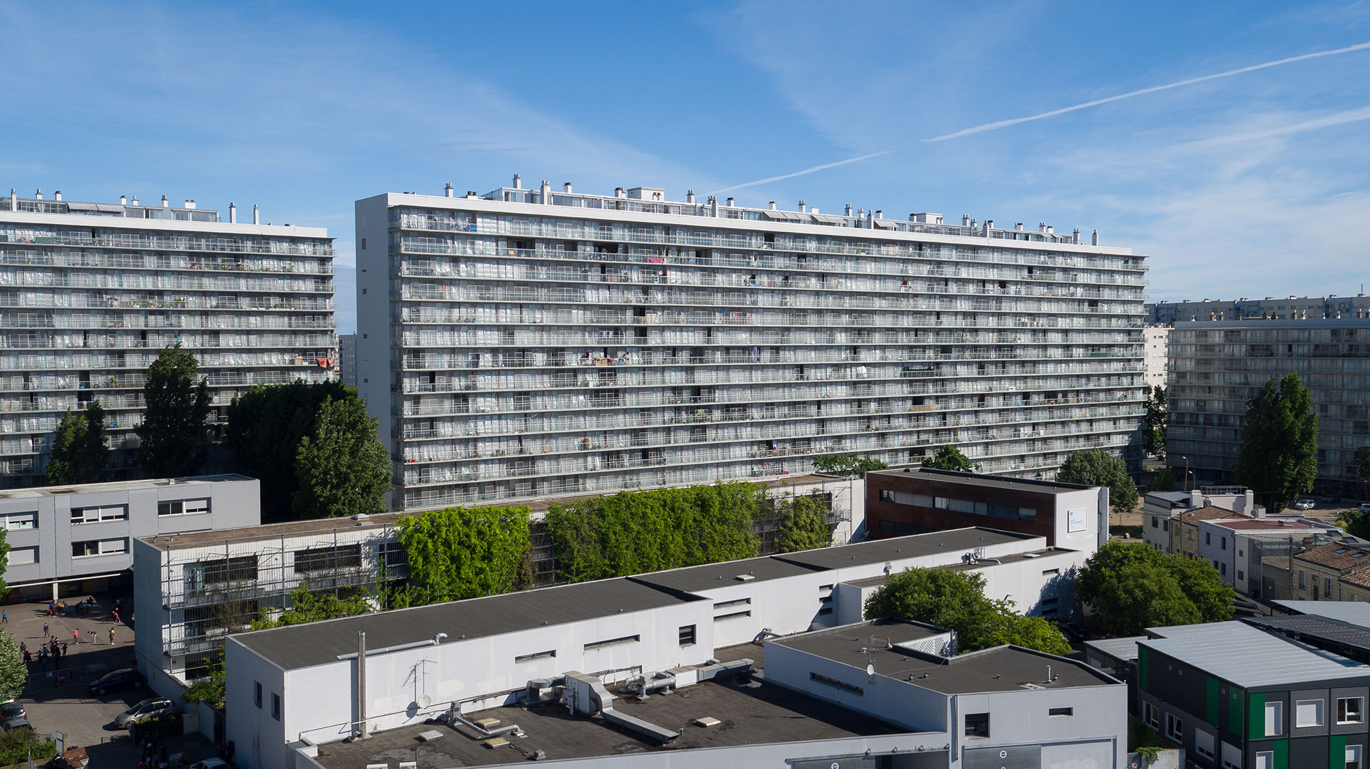 Transformation of G, H, I Buildings, Grand Parc, 530 Units, Social Housing (with Frédéric Druot and Christophe Hutin), photo courtesy of Philippe Ruault