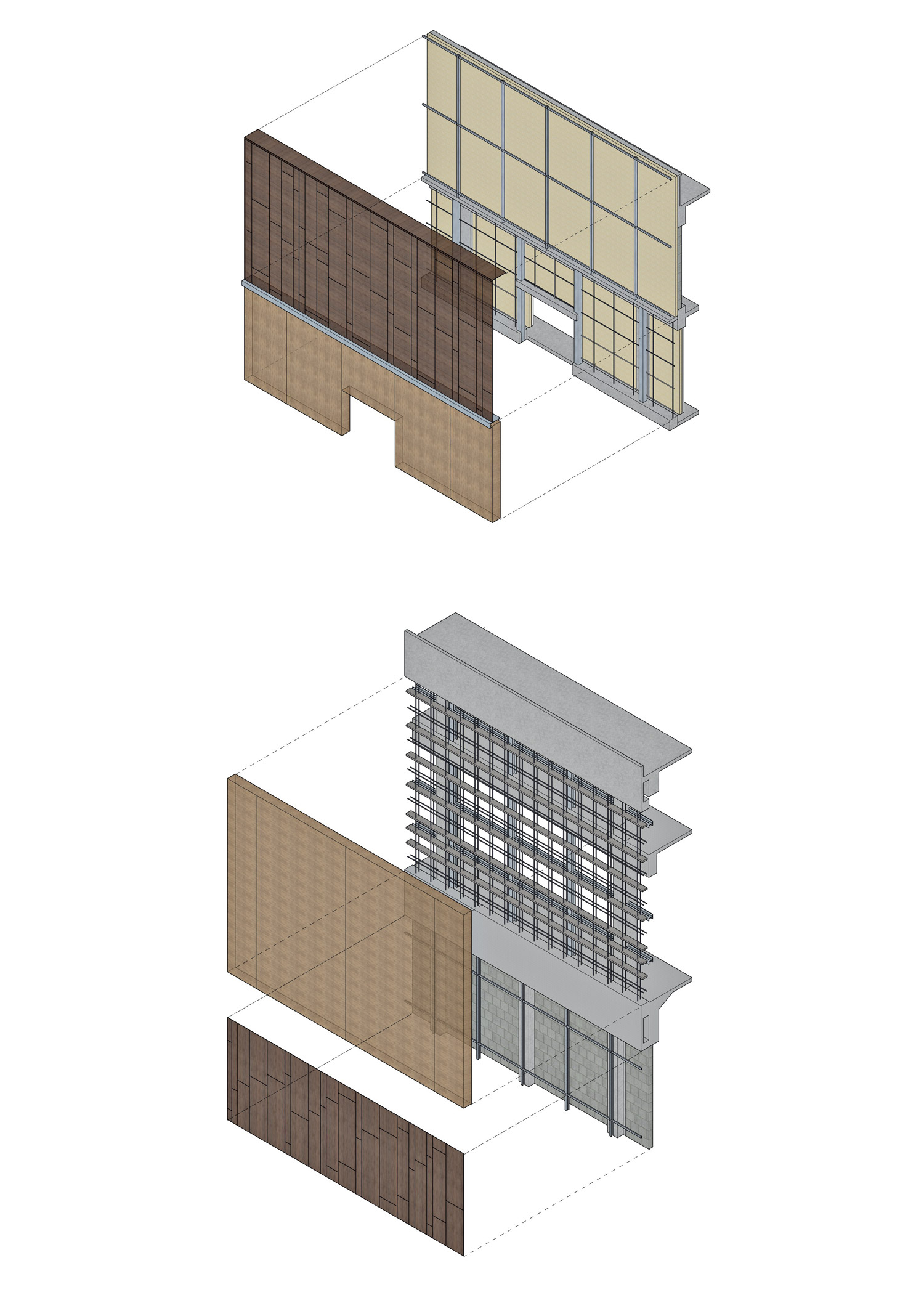 Schemi costruttivi della composizione strutturale e delle finiture delle murature