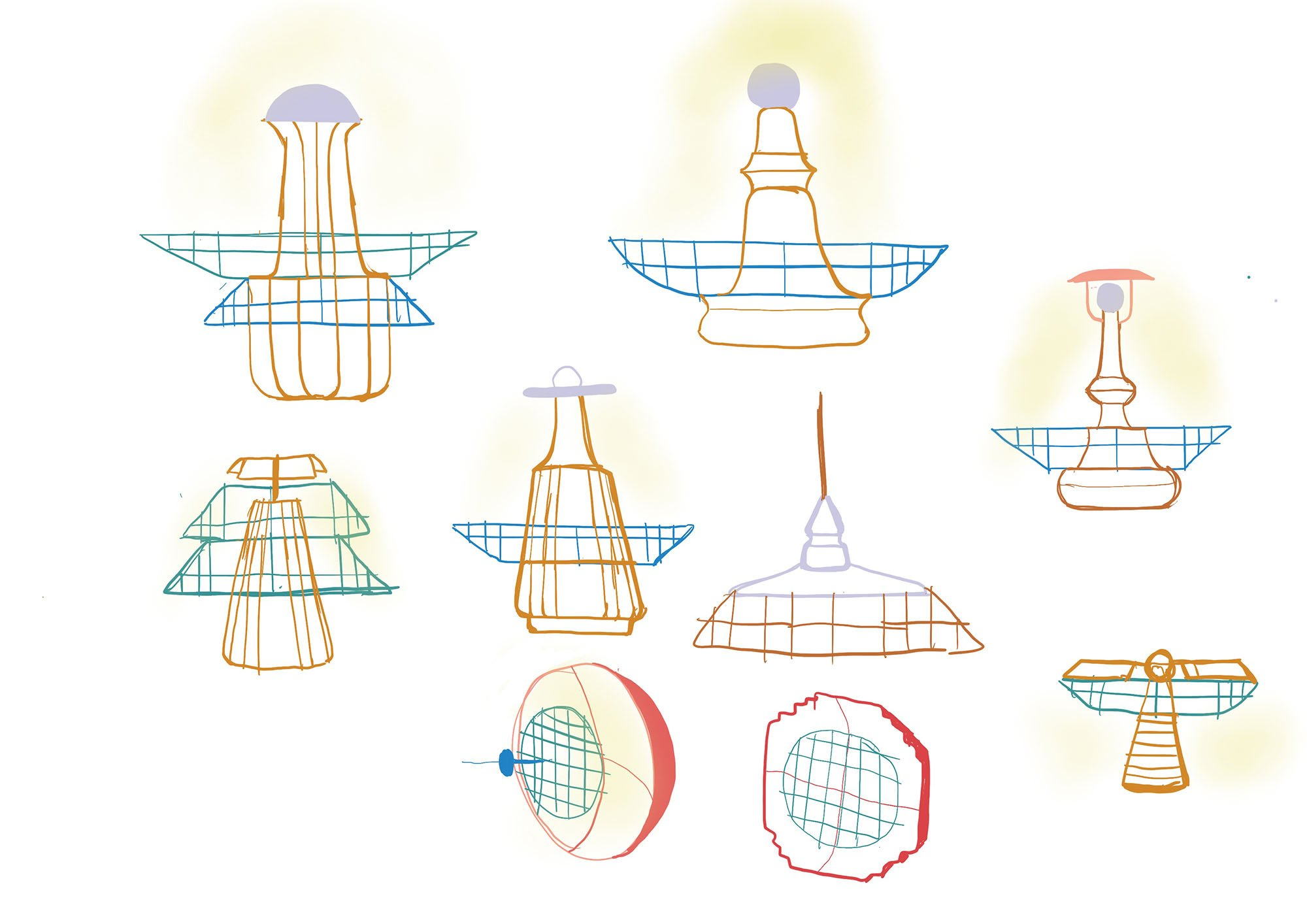 Kamonwan Mungnatee_Corners Lamp_Sketches 1