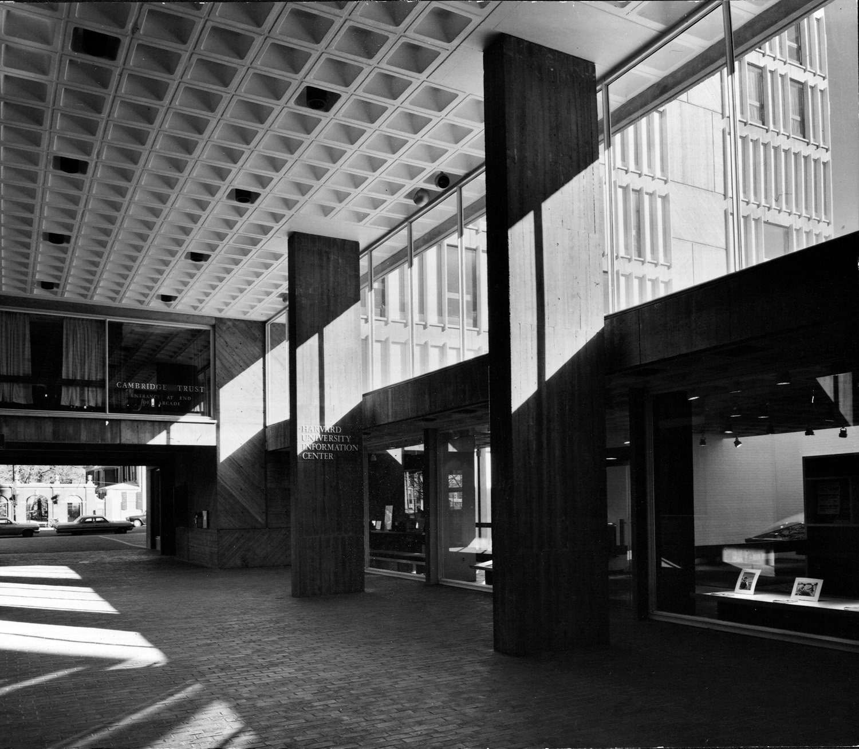 Smith Campus Center (già Holyoke Center), Harvard University, Cambridge, MA, USA Josep Lluís Sert Collection. Foto di Phokion Karas, 1965, courtesy Frances Loeb Library, Harvard University Graduate School of Design