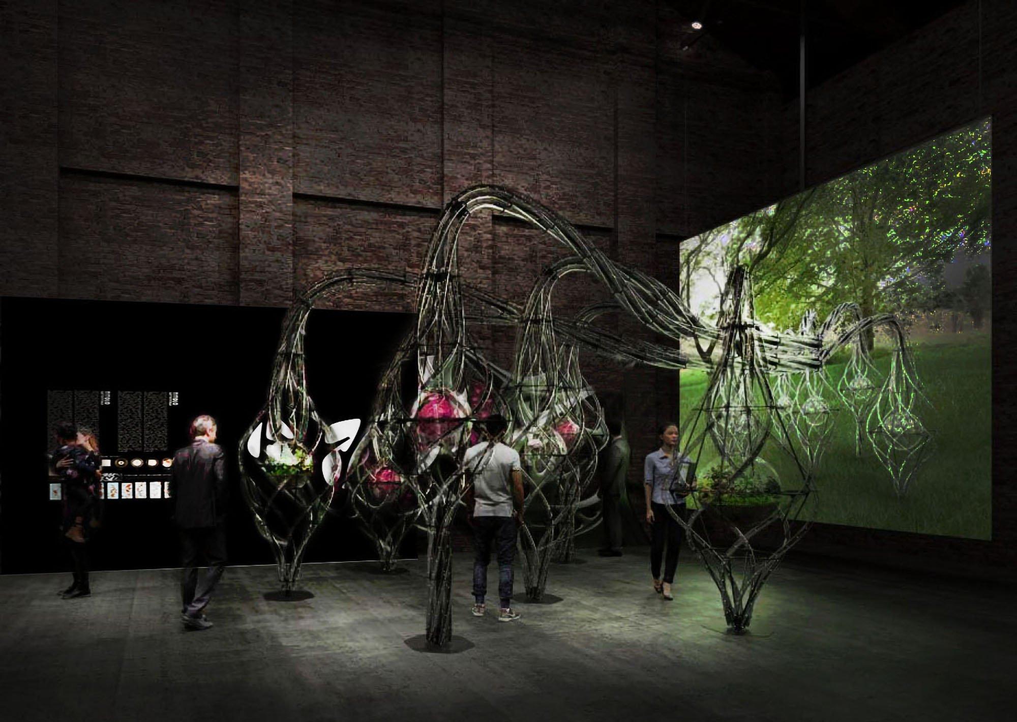 """Padiglione Italia. Installazione curatoriale """"Genoma""""."""