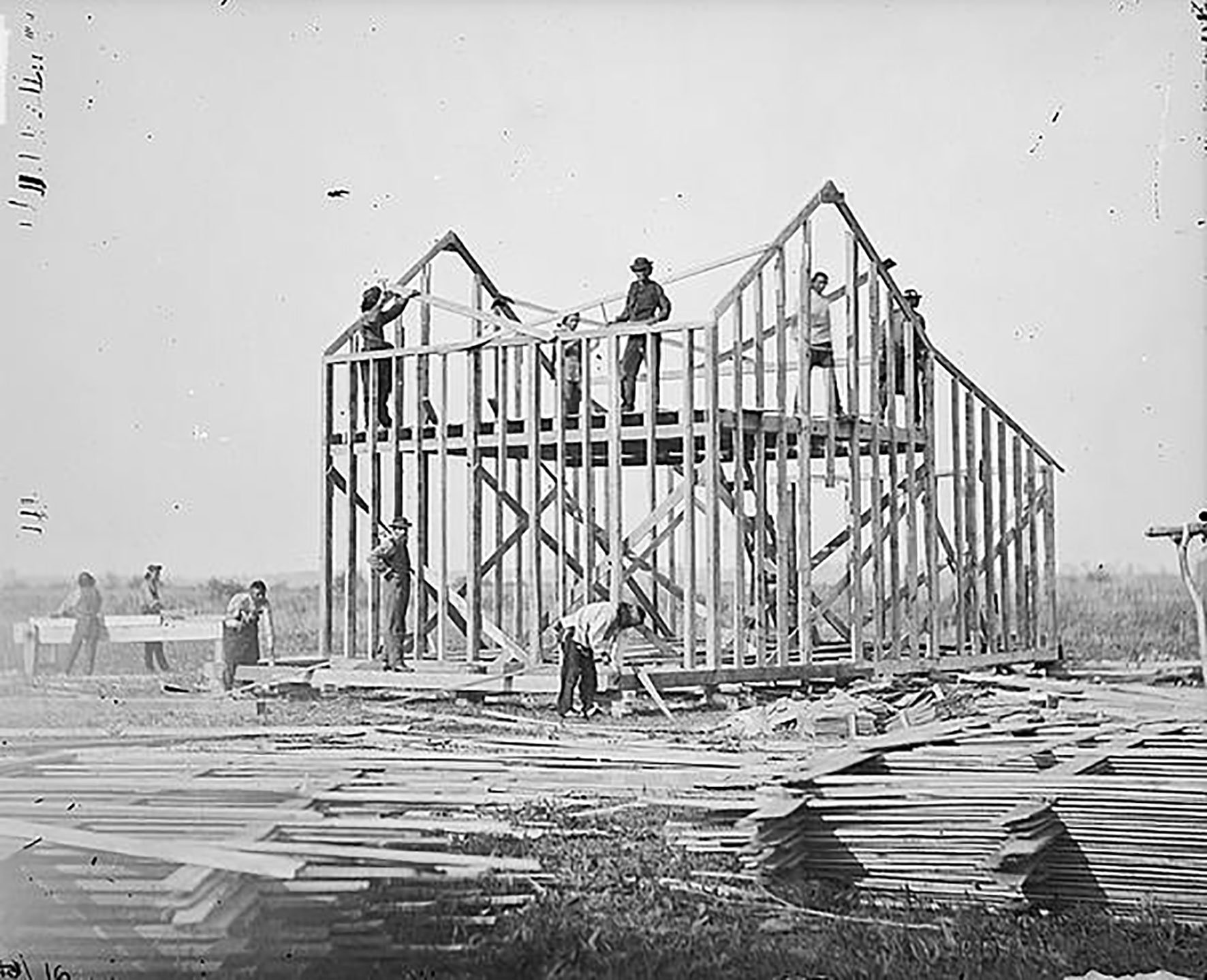 Omaha Reservation, Nebraska, 1877. Photo by William H. Jackson. Courtesy of the Pavilion of the United States at the 17th International Architecture Exhibition – La Biennale di Venezia