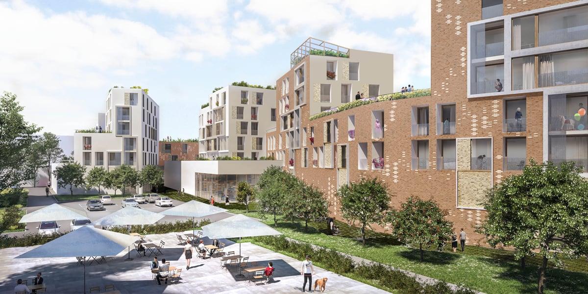 Centr-Halle Housing and Market, 2017.  Benedetta Tagliabue - Miralles Tagliabue EMBT  (View)