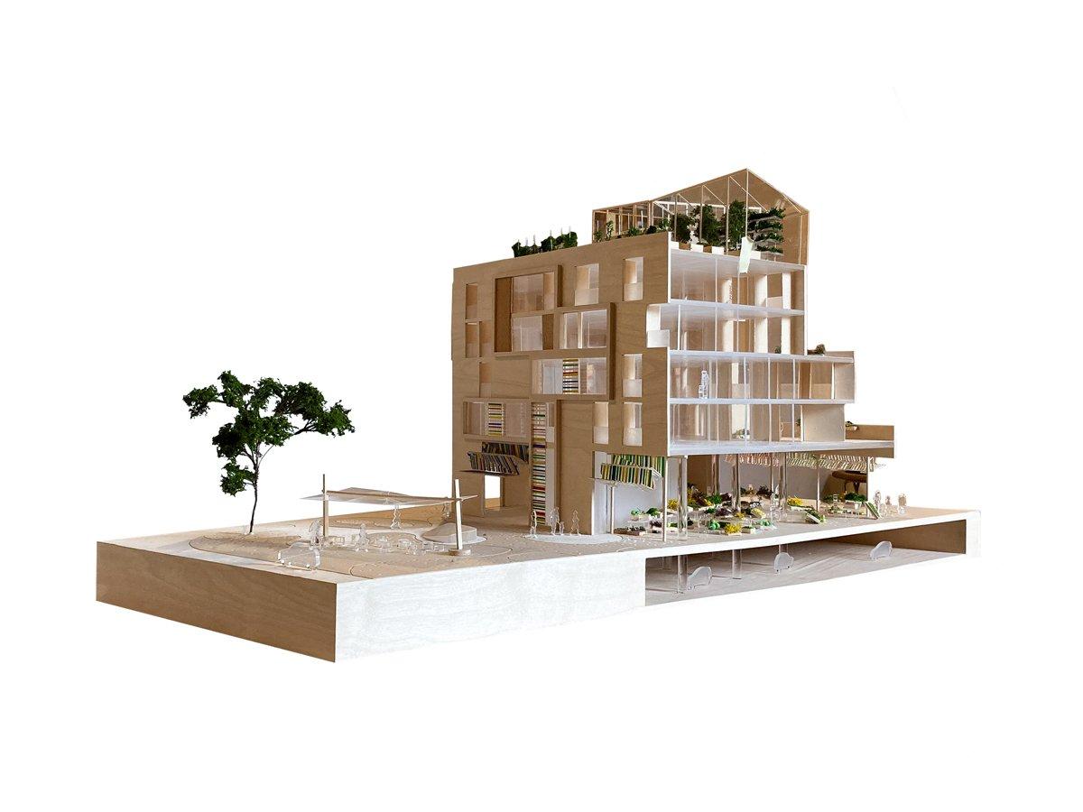 Centr-Halle Housing and Market, 2017.  Benedetta Tagliabue - Miralles Tagliabue EMBT  (Model)
