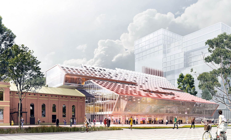 Parramatta Square 5, edificio multifunzionale per la comunità, Sydney, Australia, in corso © Manuelle Gautrand Architecture, courtesy Manuelle Gautrand Architecture, DesignInc e Lacoste-Stevenson