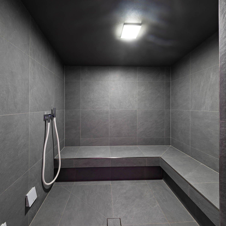 Courtesy of Effe Hotel Leon d'Oro, Orta San Giulio, Novara, Italy: Turkish bath with stoneware cladding and a Nuvola Smart Power steam generator