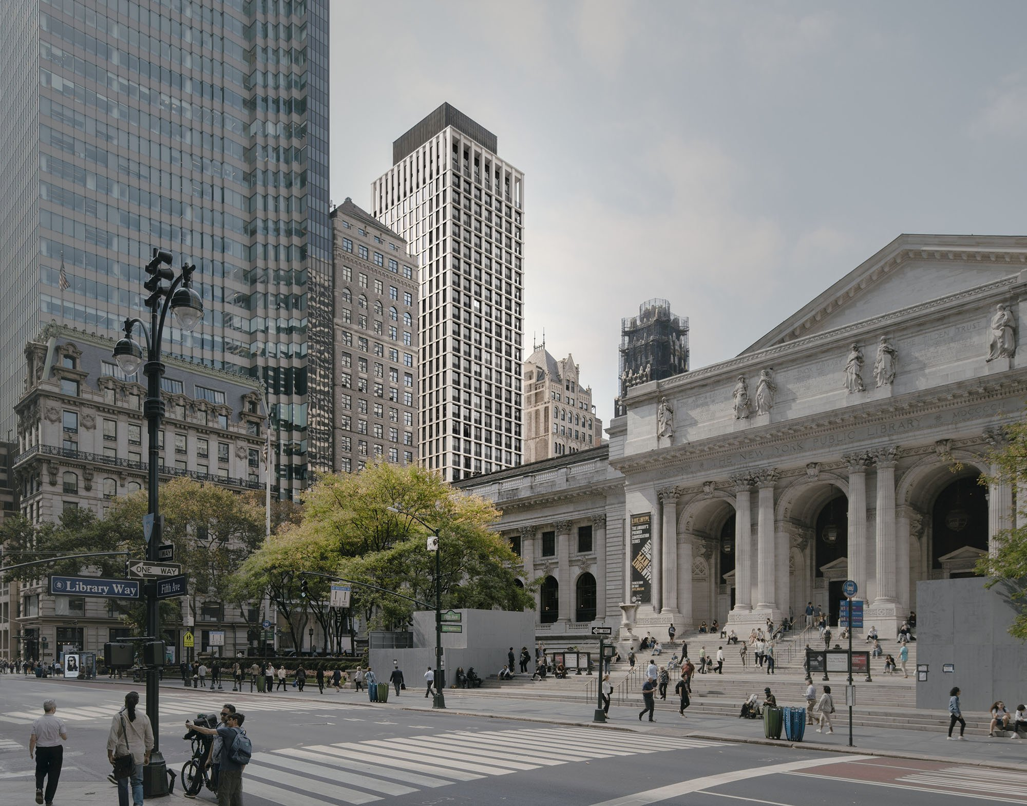 © Simon Menges View from in front of the New York Public Library