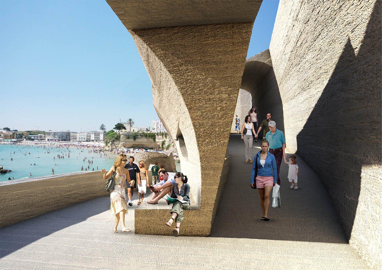 La nuova passeggiata del lungomare di Otranto