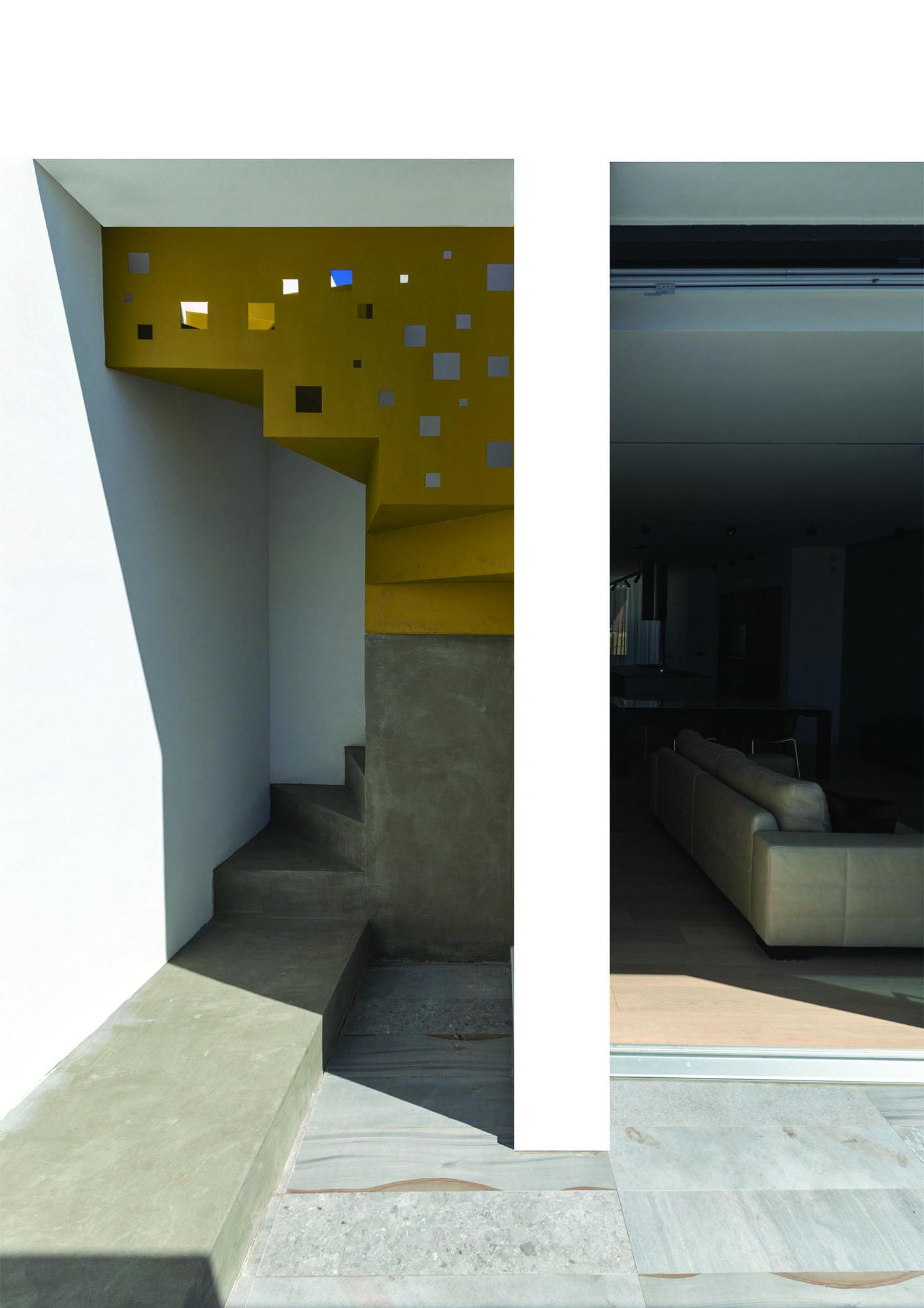 Dettaglio architettonico, scala solarium – Architectural detail, solarium's staircase