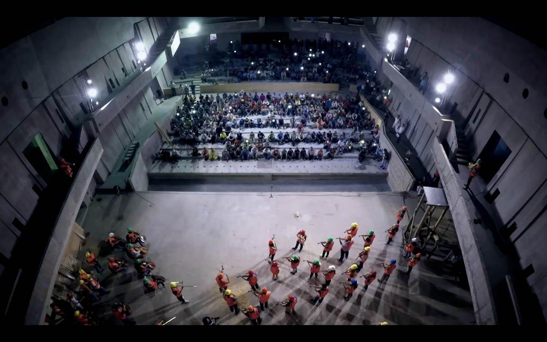 © e courtesy Miguel Ángel Yunes Márquez Auditorium per concerti Foro Boca Boca del Río, Messico, 2017. Concerto per gli operai