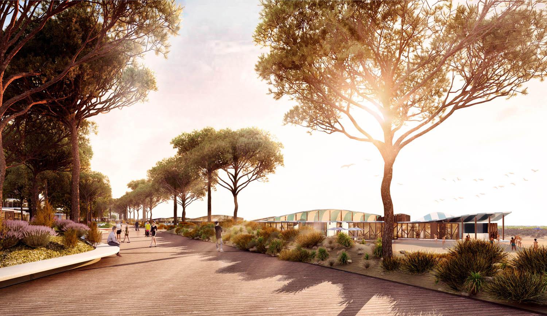 © Miralles Tagliabue EMBT. Tutte le immagini courtesy Miralles Tagliabue EMBT Masterplan per il Parco del Mare, Rimini, Italia, in fase di progetto