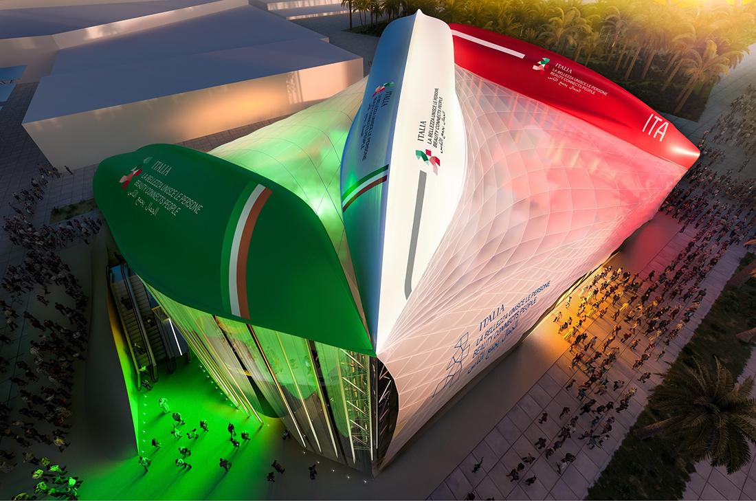 Copertura a 3 scafi - Padiglione Italia Expo Dubai 2020 - courtesy of italyexpo2020