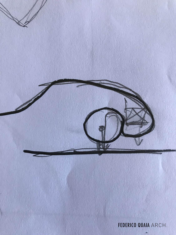 schizzo schematico del posteriore 911 FEDERICO QUAIA