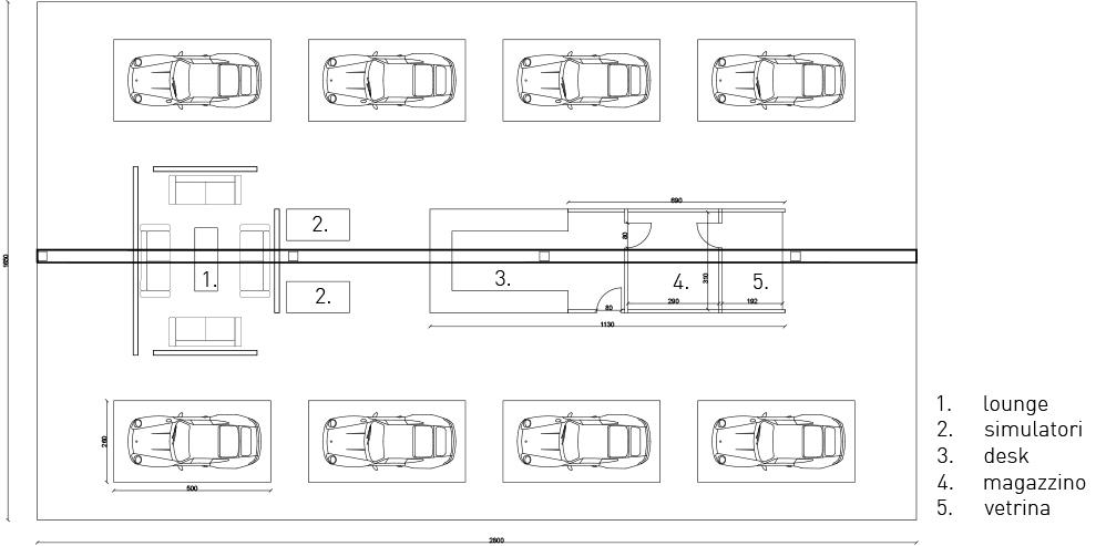 planimetria di progetto FEDERICO QUAIA